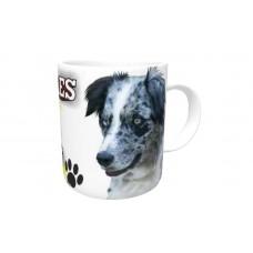 Border Collie Blue Merle  DOG Ceramic Mug 10fl oz   34