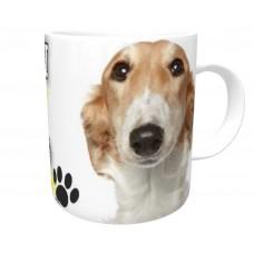 Borzoi  Brown & White DOG Ceramic Mug 10fl oz   38
