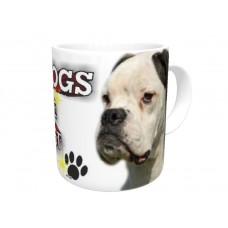 Boxer dog (White dog) HANGING CAR SIGN   41
