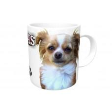 Chihuahua (Long Hair)  DOG Ceramic Mug 10fl oz   64