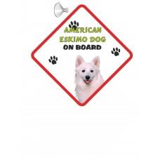 American Eskimo  Hanging Car Sign   10