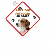 American Foxhound  Hanging Car Sign   11
