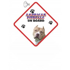 American Pitbull (tilted head) Hanging Car Sign  Dishwasher  proof 12