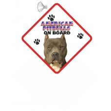 American Pitbull (pointed ears)  Hanging Car Sign  Dishwasher  proof 13