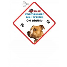 American Staffordshire Bullterrier (standing up)Hanging Car Sign   14