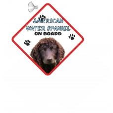 American Water Spaniel Hanging Car Sign   15