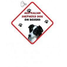 Australian Shepherd  Hanging Car Sign   18
