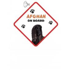 Afghan Hound (Black) Hanging Car Sign   2