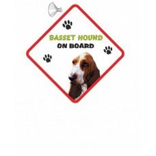 Basset Hound  Hanging Car Sign   22