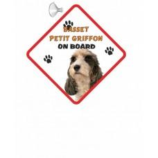 Basset PETIT Griffon Hanging Car Sign   23