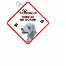 Bedlington Terrier  Hanging Car Sign   27
