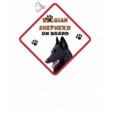 Belgian Shepherd Hanging Car Sign   28