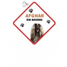 Afghan Hound (Blonde) Hanging Car Sign   3