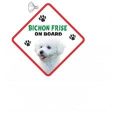 Bichon Frise  Hanging Car Sign   31