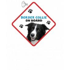 Border Collie Hanging Car Sign   35
