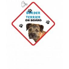 Border Terrier (head shot) Hanging Car Sign   36