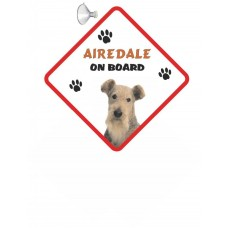 Airedale Terrier Hanging Car Sign   4