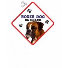 Boxer (adult )  Hanging Car Sign   42