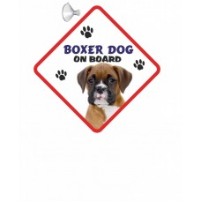 Boxer (young)  Hanging Car Sign   43
