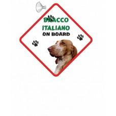 Bracco Italiano  Hanging Car Sign   45