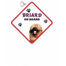 Briard (gold)  Hanging Car Sign   47