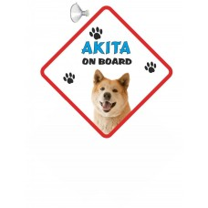 Akita (tan coloured)   Hanging Car Sign   5
