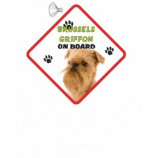 Brussels Griffon (Gold) Hanging Car Sign   50