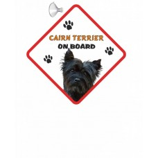 Cairn Terrier (black)  Hanging Car Sign   54