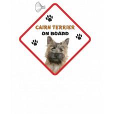 Cairn Terrier (golden dog) Hanging Car Sign   55