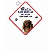 Cavalier King Charles Spaniel (Brown)  Hanging Car Sign   58