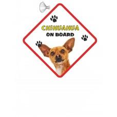 Chihuahua (Brown SH)  Hanging Car Sign   62