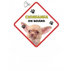 Chihuahua (Light Brown SH)  Hanging Car Sign   63