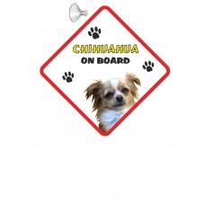 Chihuahua (Long Hair)  Hanging Car Sign   64