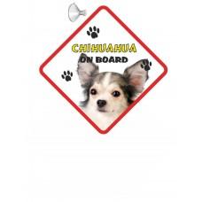 Chihuahua (WT & BK LH)  Hanging Car Sign   65