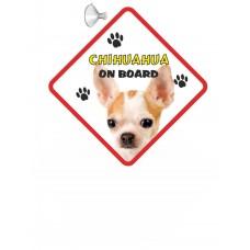 Chihuahua (WT & BR SH)  Hanging Car Sign   66