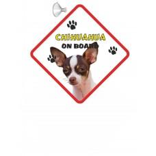 Chihuahua (WT & BR SH1)  Hanging Car Sign   67