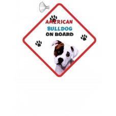 American Bulldog  Hanging Car Sign   7