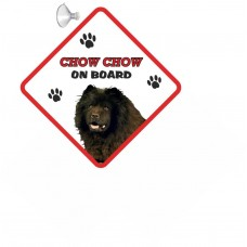 Chow Chow (black)  Hanging Car Sign   71
