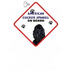 American Cocker Spaniel (Black coloured)  Hanging Car Sign   8