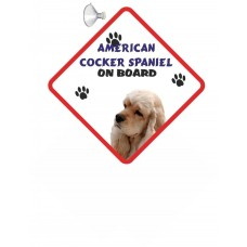 American Cocker Spaniel Tan coloured) Hanging Car Sign   9