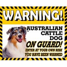 Australian Cattle  Yellow warning metal sign   17