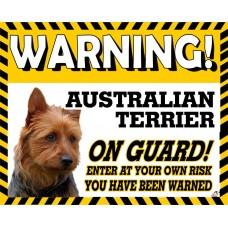 Australian Terrier Yellow warning metal sign   19