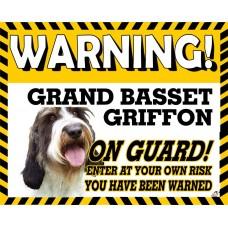 Basset GRAND Vendeen Yellow warning metal sign   21