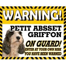 Basset PETIT Griffon Yellow warning metal sign   23