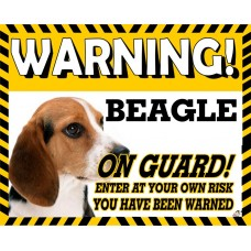 Beagle  Yellow warning metal sign   24
