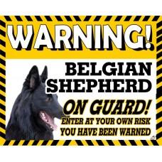 Belgian Shepherd Yellow warning metal sign   28