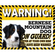 Bernese Mountain Yellow warning metal sign   30