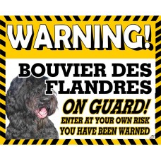 Bouvier des Flandres  Yellow warning metal sign   40