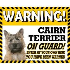 Cairn Terrier (golden dog) Yellow warning metal sign   55