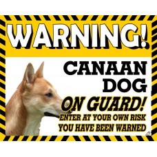 Canaan  Yellow warning metal sign   56